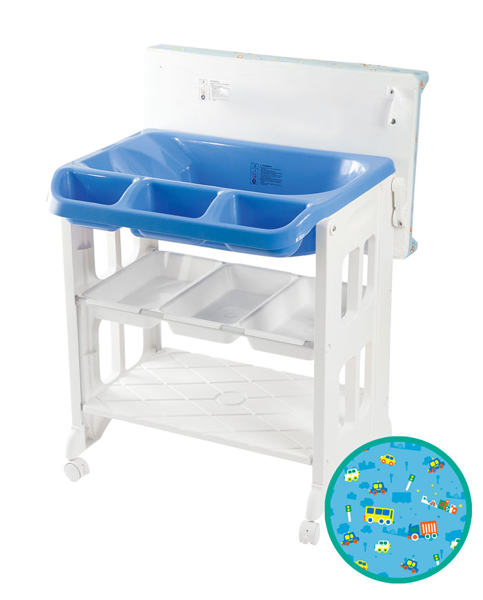 LuxxBaby BCS1 Bath Changing Station Blue