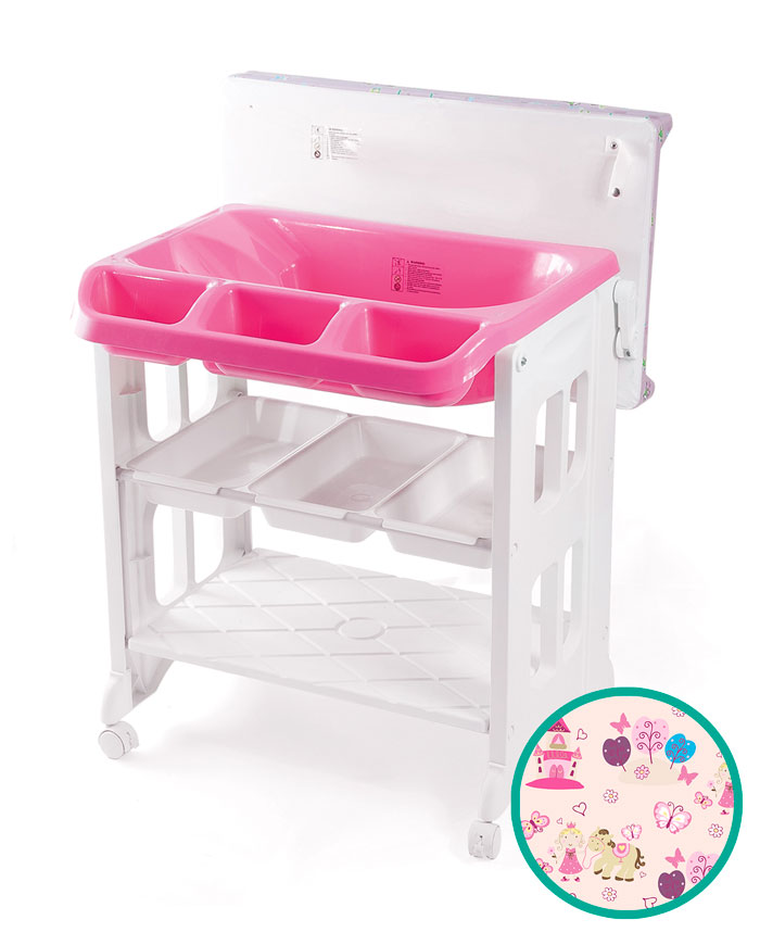 LuxxBaby BCS1 Bath Changing Station Pink