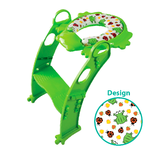 LuxxBaby PCL1 Cushion Step Potty Green