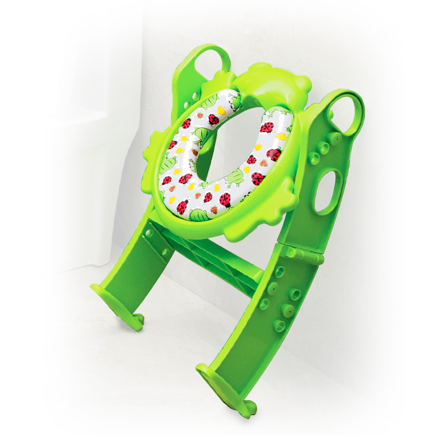 LuxxBaby PCL1 Potty Cushion Ladder Green - Folded